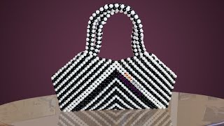 পুতির ব্যাগ/ How to make beaded zebra bag/ Beaded bag/ putir bag/ hand bag/ hand purse/ beaded work