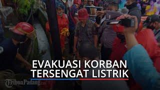 Seorang Pria Tersengat Listrik Papan Reklame saat Hujan di Padang