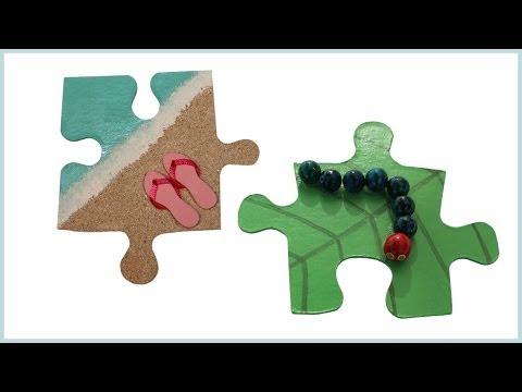 Aimants pour frigo avec puzzle