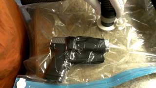 Kydex forming holster using vacuum storage bags