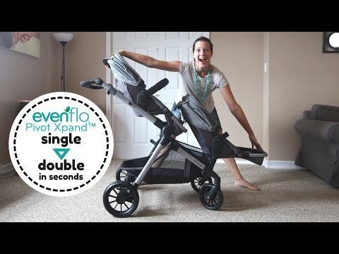Evenflo Pivot Xpand Review – Convert Single to Double Stroller in Seconds!
