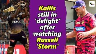 Watch: Jacques Kallis still in 'delight' after watching Russell 'storm' at Eden Gardens | IPL 2019