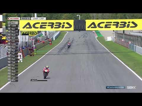 スーパーバイク世界選手権 SBK 第6戦スペイン(カタルニア・サーキット)決勝レース2の見所を集めたハイライト動画