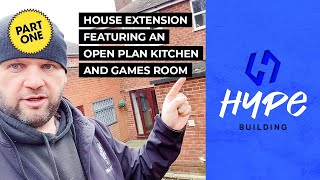 House Extension With Open Plan Kitchen And Games Room – PART 1