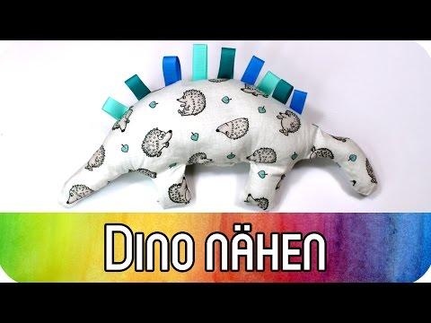 Kuscheltier Dinosaurier nähen als Spielzeug für Babys | Nähen für Anfänger | kreativbunt