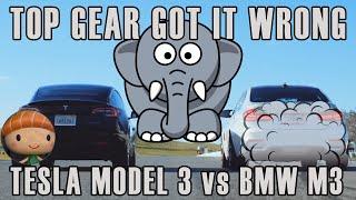 Tesla Model 3 VS BMW M3 Top Gear missed it!