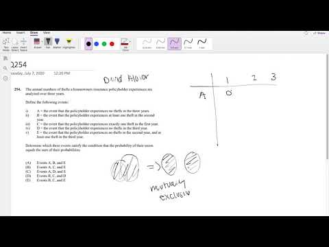 SOA Exam P Question 254   Mutual Dependent Events - YouTube