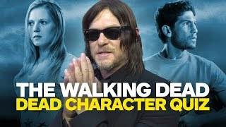 The Walking Dead Cast Takes Ultimate Dead Characters Quiz