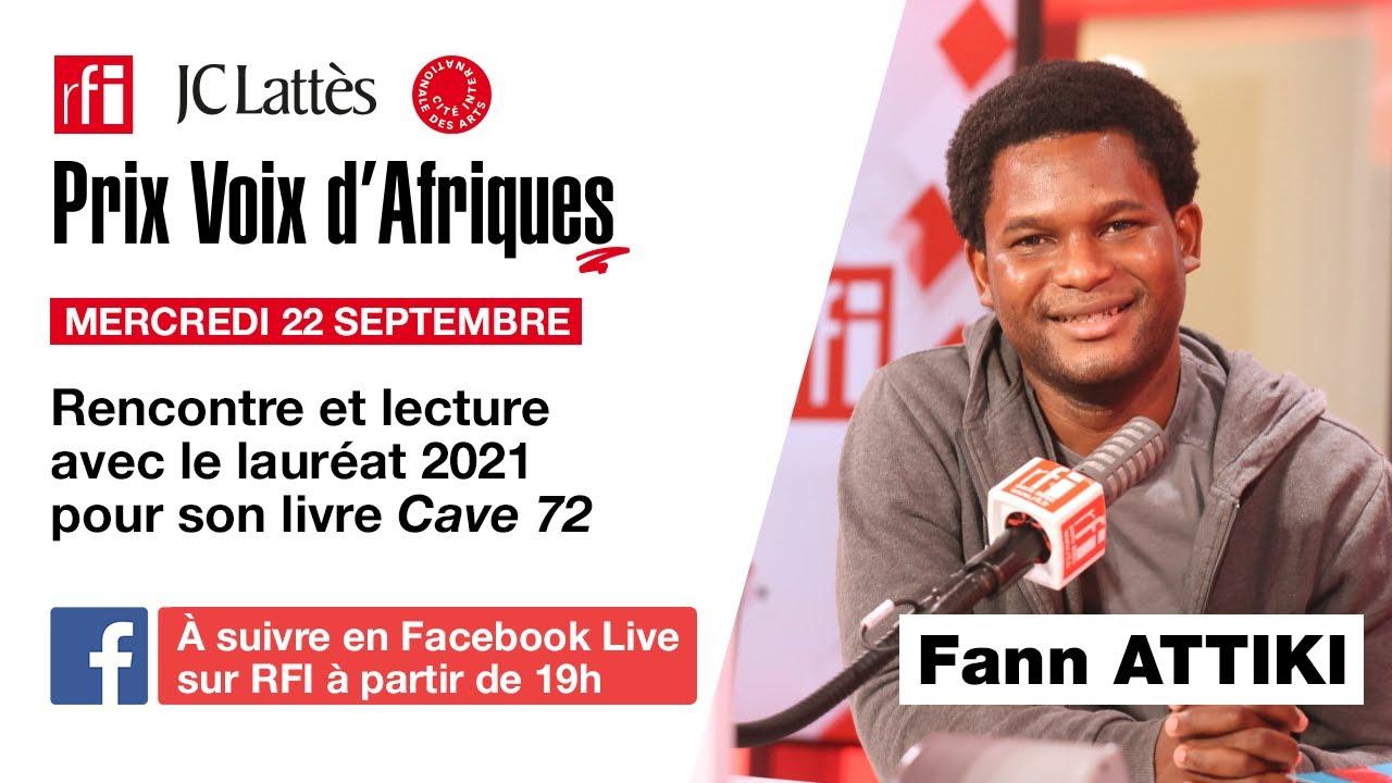 Soirée autour de Fann Attiki, lauréat 2021 du prix « Voix d'Afriques », à la Maison de la poésie
