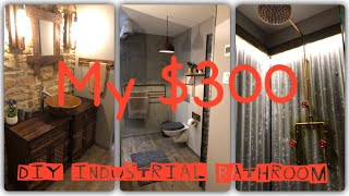 Diy Industrial Rustic Bathroom On A Budget
