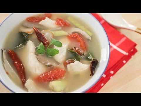 Tom Yum Soup w/ Fish Recipe ต้มยำปลา – Hot Thai Kitchen!