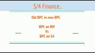 BPC on BW vs BPC for S4