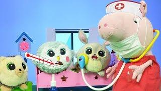 Bajka Gang Słodziaków 🐰 🦉 Słodziaki 🐷🦔 Świnka Peppa leczy jesienne przeziębienie Słodziaków