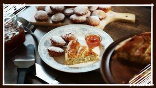 Bulgarian Breakfast - How to Make Banitsa & Mekitsi - How to make Phyllo Pastry