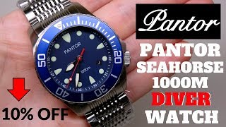 PANTOR SEAHORSE DIVER 1000M MEN'S WATCH REVIEW