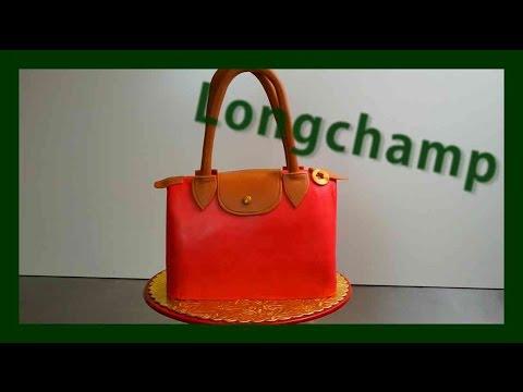 Longchamp Designer Handtaschen Torte - Taschen Torten Longchamp Tutorial - Kuchenfee