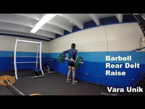 Barbell Rear Delt Raise