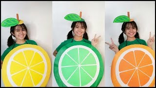 CITRUS COSTUMES ( LEMON, LIME, ORANGE ) DIY FRUIT COSTUMES MADE OF PAPER