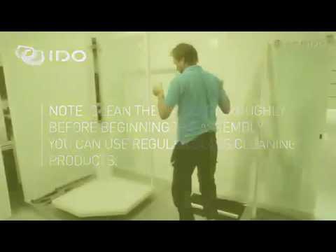 Душевая кабина Ido Showerama 8-5 (100х100) (профиль серебристый, художественное/прозрачное стекло) 13