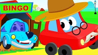 Bingo | Dog Song Cartoons For kids | Little Red Car