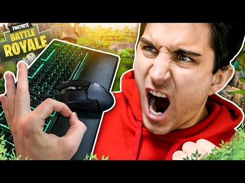 GIOCO FINALMENTE CON MOUSE E TASTIERA! DUO CON PRO PLAYER! Fortnite Battle Royale