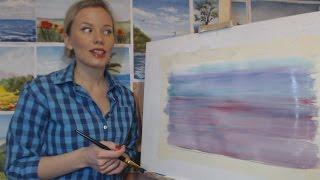 Смотреть онлайн Как подготовить фон картины для рисования гуашью