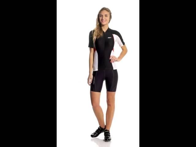 Видео Велошорты женские Garneau FIT SENSOR 7.5 черные