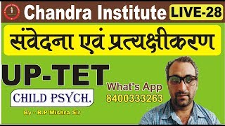 UPTET LIVE 28 CHILD PSYCHOLOGY/ UP TET Child Psychology Tutorial