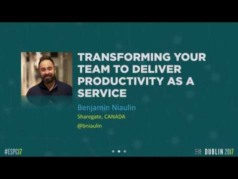 KEYNOTE 2: Transforming Your Team to Deliver Productivity as a Service