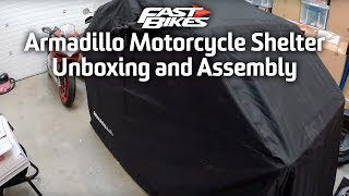 Armadillo Motorcycle Shelter - Unbox & Assembly