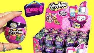 30 SHOPKINS SEASON 4 Fashion Spree FULL CASE Purple Shopping Baskets with Shopkins Eggs Surprise