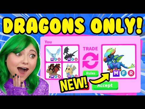 TRADING ONLY *MEGA LEGENDARY DRAGONS* in ADOPT ME ROBLOX! *RICH TRADE SERVER* Adopt Me Trading