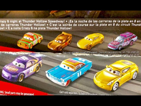 Disney Cars 3 Toys Sneak Peek NEW Cars Found On Back Of Cards - Disney Cars 2018 Guessing Game