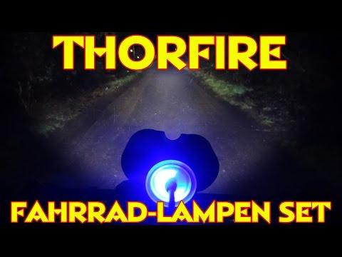 """""""THORFIRE FAHRRADLAMPEN SET"""" -Macht die Nacht zum Tag"""