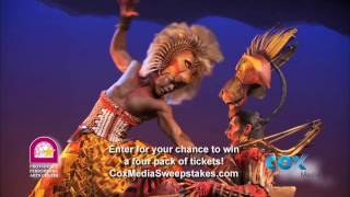 """Providence Performing Arts Center, """"The Lion King"""" Feb/March 2017"""