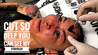 Cris Cyborg UFC 240 MMA Cut so deep you can see her skull