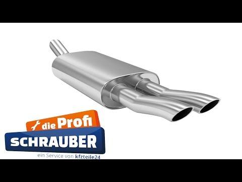 Auspuff / Schalldämpfer wechseln - VW Golf 4 [TUTORIAL]