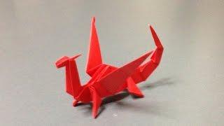 折り紙 立体 ドラゴン 折り方 作り方 How to make an origami dragon