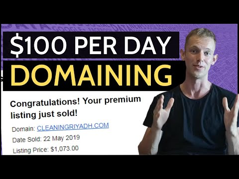 How To Make $100 Per Day With Domain Flipping - Step-By-Step Tutorial