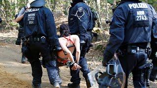 Polizeieinsatz im Hambacher Forst geht weiter
