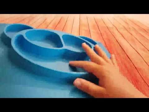 GHB Tischsets Platzsets Teller aus Silikon für Baby Kleinkinder Rutschfest