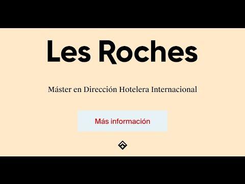 Máster en Dirección Hotelera Internacional en Les Roches Marbella Global Hospitality Education