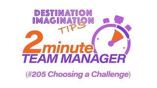 Choosing a DI Challenge