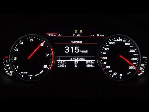 Audi RS6 Avant C7 2015  - acceleration 0-305 km/h