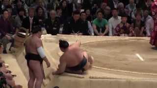 日馬富士vs稀勢の里2015大相撲三月場所13日目HarumafujivsKisenosatoSUMO