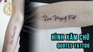 Quotes Tattoo For Girl - Hình Xăm Chữ Cá Tính - Ngoc Thong Tattoo