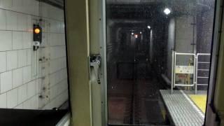 【前面展望】梅田~淀屋橋「電車がカーブを通過します。ご注意下さい」