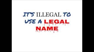 Call to an excellent living being at South Carolina vital records: legal name use is fraud.