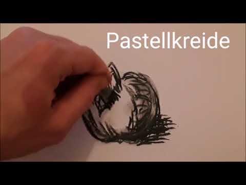 Zeichenmaterialien und ihre Wirkung / Bleistift Graphit Pastellkreide Kohle Marker