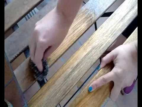 Cómo limpiar madera sin tratar